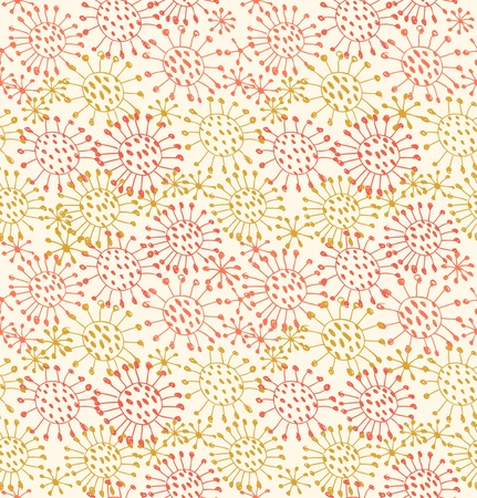 Seamless decorative pattern  Endless hand drawn background with circles and dots
