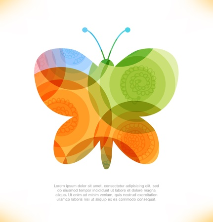 Vector fantasy butterfly  Fairy shiny banner  Beauty element for gifts, cards, invitations Illustration