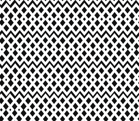 Geometric black and white seamless pattern. Netting structure. Abstract contour background Vector