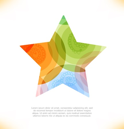 pulsation: multicolor star  Beauty element for gifts, cards, invitations Illustration