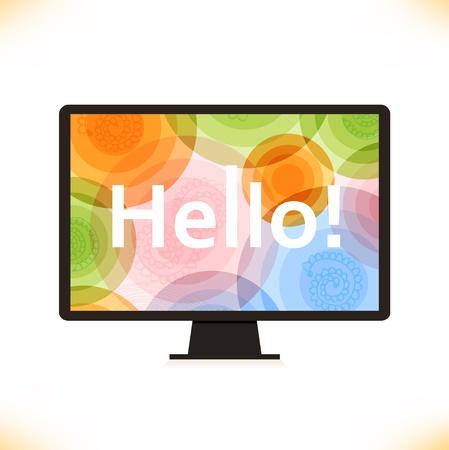 Vector isolated monitor   Multicolor screen  Wallpaper  Computer silhouette Stock Vector - 20314114