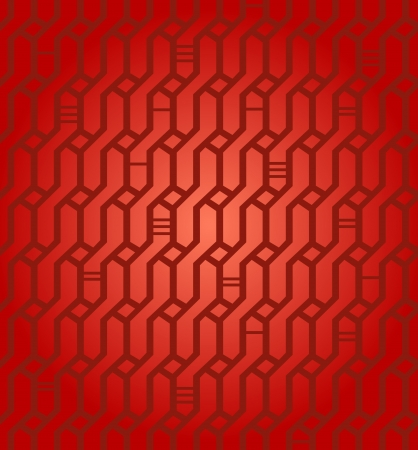 Seamless geometric red pattern  Network background  Wickerwork  Decorative endless texture for design textile, wrapping papers, packages, tiles  Stock Vector - 20314106