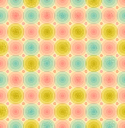 baby background  Vintage seamless pattern with circles