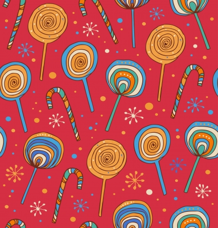 Lollipops background  Differents fruit drops Vector