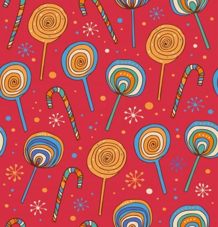 Lollipops background  Differents fruit drops Vector