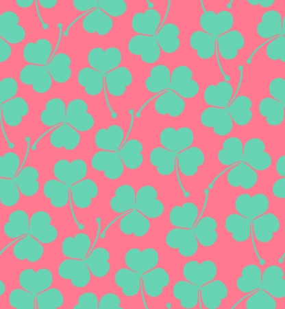 trefoil: Seamless cute pattern with clover, trefoil  Endless background texture for wallpapers, packaging, textile, crafts, scrapbook
