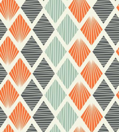 装飾的な抽象的な背景の rhombs 証明されるとシームレスな幾何学模様  イラスト・ベクター素材