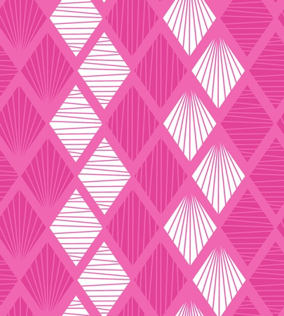 Seamless geometric pattern with rhombs  Decorative pink background Vector
