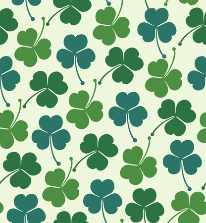 Seamless summer pattern with clover, trefoil  Endless background texture with decorative flowers Vector