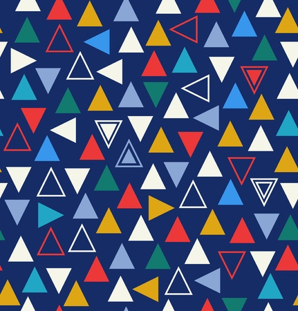 Geometric colorful seamless pattern with triangles  Abstract background Vector