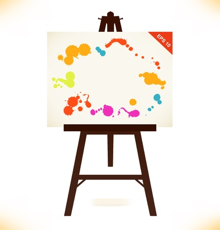 Artistic empty canvas Illustration