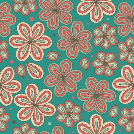 Floral ornamental seamless pattern  Decorative nice flowers background  Endless ornate texture for prints, crafts, textile  Vector