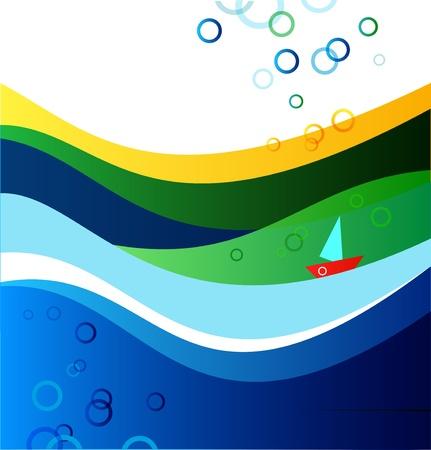 Marine summer banner