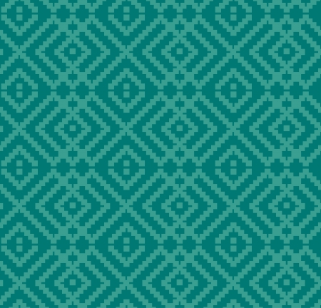 Decorative seamless turquoise texture  Ethnic traditional background Illustration