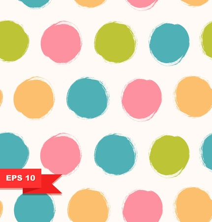 Seamless bright background  Decorative pattern with drawn circles Vector
