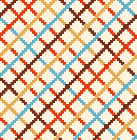 Decoratief geruit landelijke patroon Multicolor naadloze plattelandsachtergrond