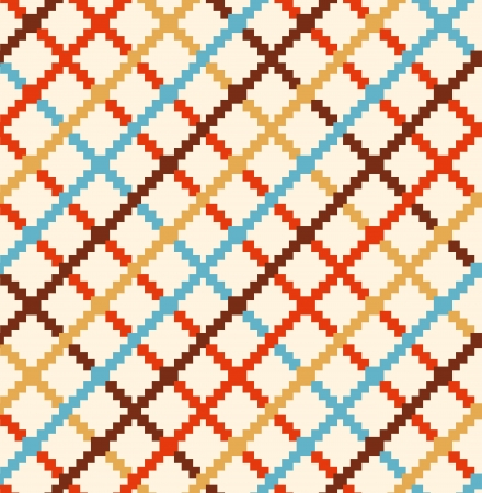 foursquare: Decorative checkered rural pattern  Multicolor seamless countryside background