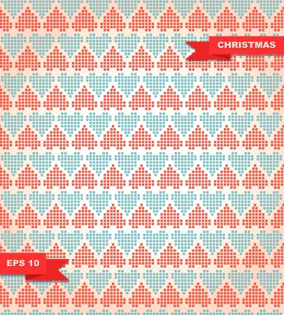 Decorative checkered colorful pattern with stitch hearts   Illustration