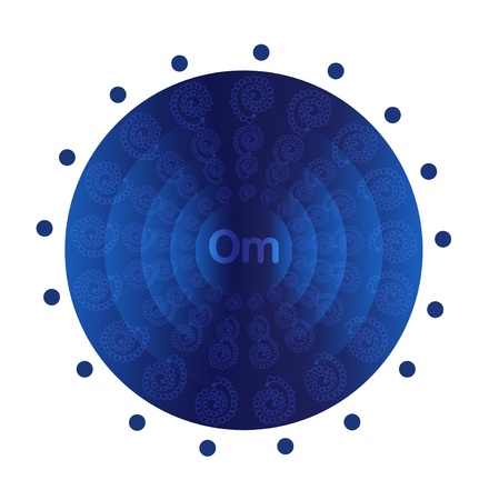 Deep blue mandala   Vector