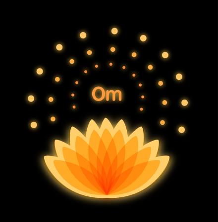 Shiny mandala with glossy lotus