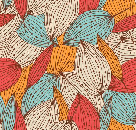 Romantic autumn floral seamless pattern