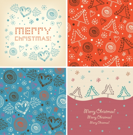 Set of Christmas holiday banners  Vector