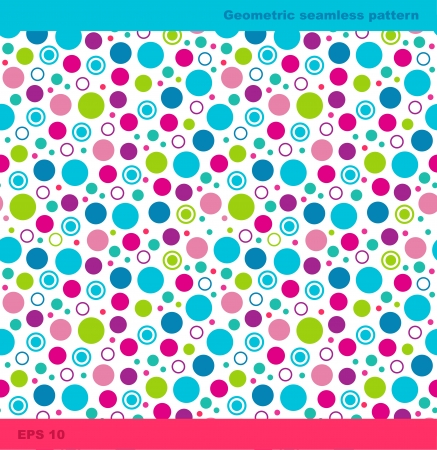 Seamless geometric pattern with circles  Vector