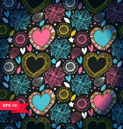Floral decorative seamless pattern Stock Vector - 22600763