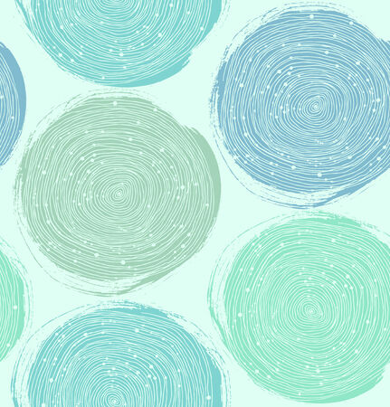 Decorative paint pattern seamless texture with circles Vector