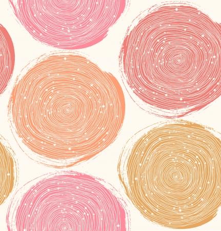 Decoratieve verf patroon naadloze textuur met roze cirkels Stock Illustratie