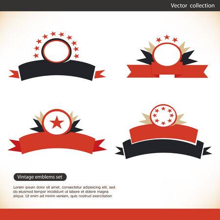 miras: Eski, retro etiket, pullar, şeritler, Set Retro tasarım öğeleri işaretler, vektör miras koleksiyonu