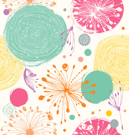 Seamless decorative pattern with abstract details  Cute funny background Vector