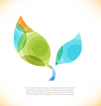 multiplicar: hoja multicolor