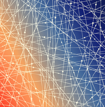 netting: Gradient netting textuur met stippen