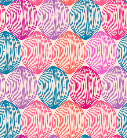 Abstract colorful pattern  Seamless ornate decorative background with multicolors clews