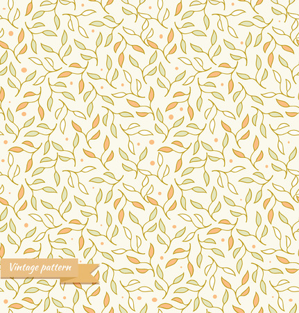Decorative seamless pattern  Beige floral background  Texture for textile, wallpapers, crafts, prints, packages Illustration