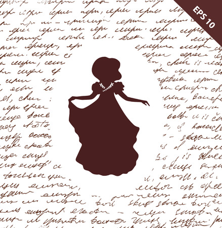 historical romance: Script seamless background with woman\\\\