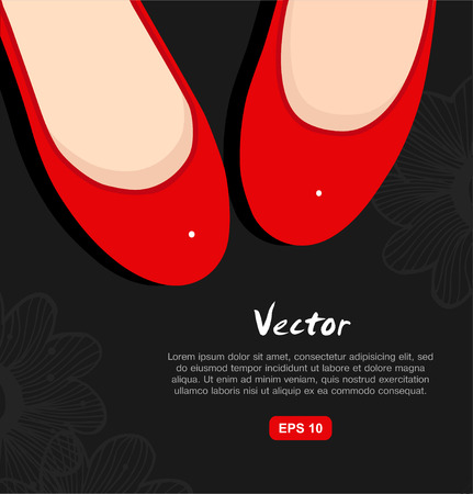 Fashion vector illustration of red isolated womans shoes Vector