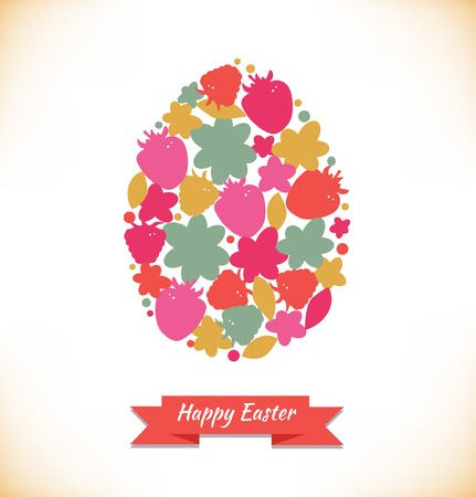Template for eggs design. Easter decoration with cute floral shapes. Very easy to use!