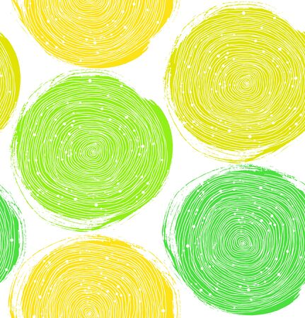 Decorative paint pattern. Vector seamless texture with green circles