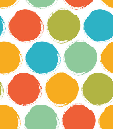 Decorative paint pattern with drawn circles. Seamless bright texture