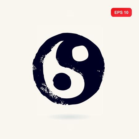 armonia: Ying yang vector símbolo de la armonía y el equilibrio. Tao. Tai Chi