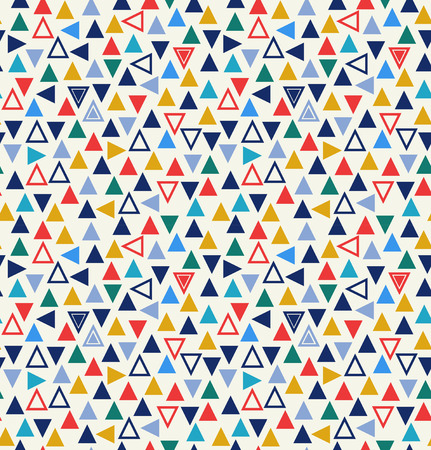 Geometric seamless pattern with triangles. Abstract colorful background Illustration