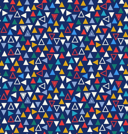 Geometric seamless pattern with triangles. Abstract multicolor background