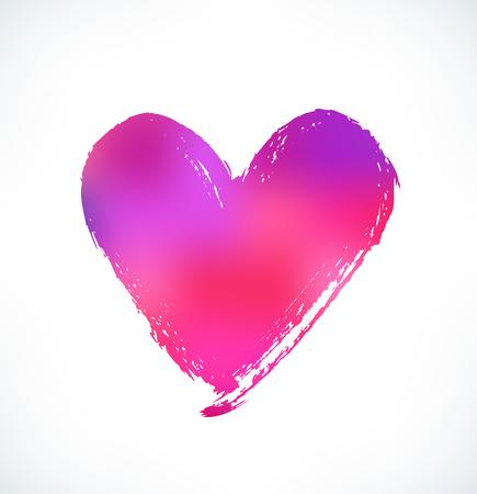 heart symbol: Heart. Ink hand drawn symbol of love