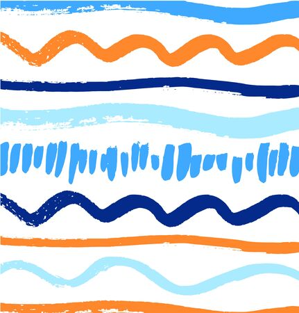 Abstract paint pattern with artistic ink lines. Vector background with brushes strokes Illustration