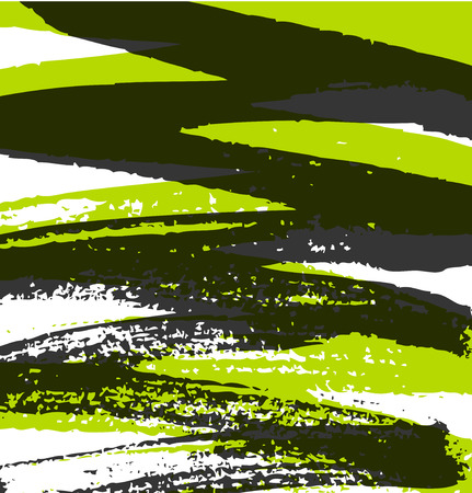 Abstract grunge pattern with paint ink lines. Vector background with stylish paint strokes