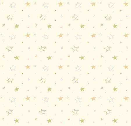 Stars on the seamless background. Vector cute pattern. Decorative texture
