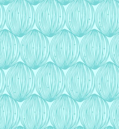 Abstract green pattern. Seamless ornate decorative background with clews