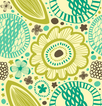 Fantasy decorative pattern. Abstract background with stylized flowers
